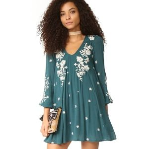 NEW Free People Sweet Tennessee Embroidered Dress